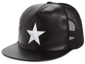 Givenchy Star Leather Trucker Cap