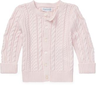 Ralph Lauren Aran-Knit Cotton Cardigan