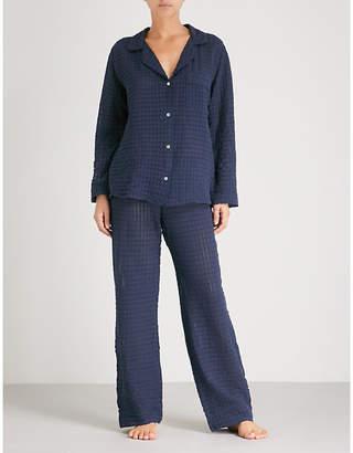 Eberjey Textured cotton pyjama set