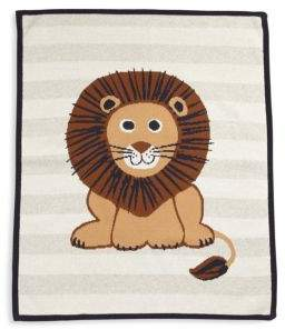 Lucky Jade Baby's Cotton& Cashmere Lion Blanket