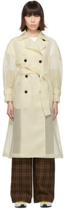 Enfold Beige Organdie Trench Coat