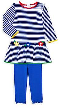 Florence Eiseman Little Girl's Two-Piece Happy Camper Dress & Leggings Set