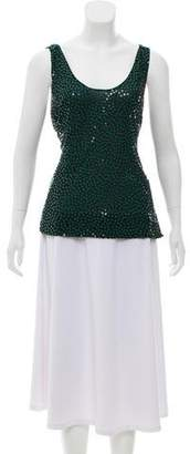 Diane von Furstenberg Sequined Silk Top