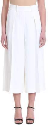 Alexandre Vauthier Gaucho White Viscose Trousers