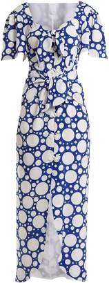 REBECCA DE RAVENEL Zaza tie-front button-down dress