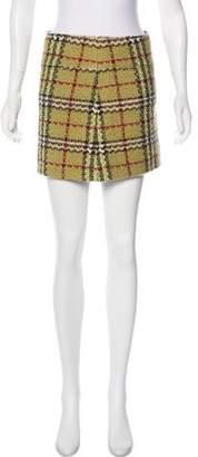 Burberry House Check Wool Skirt