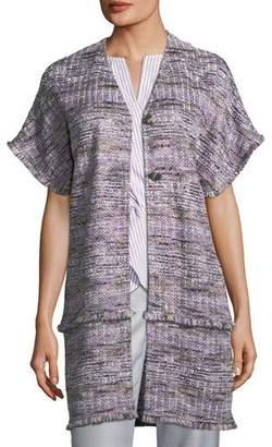 St. John Short-Sleeve Tweed Topper