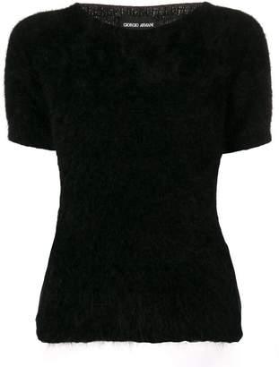 Giorgio Armani (ジョルジョ アルマーニ) - Giorgio Armani fuzzy-knit sweater