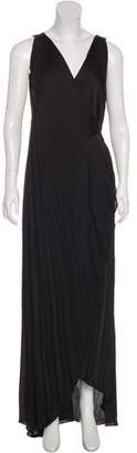 L'Agence Pleated Wrap Dress