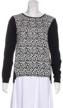 Tibi Leopard Pattern Sweatshirt