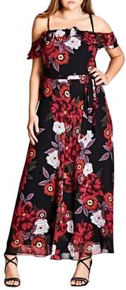 City Chic Chic City Rich Rose Maxi Dress