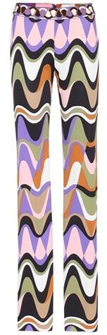 Emilio Pucci Silk blend printed trousers