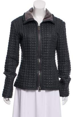 David Szeto DAVID 2 by Franco Fonati Quilted Leather Jacket