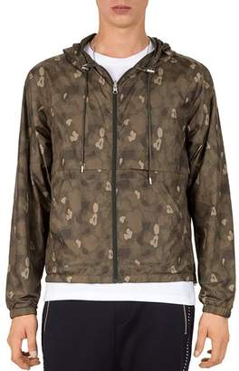 The Kooples Blouson Reversible Windbreaker Jacket
