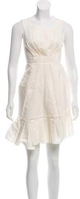 Marc Jacobs Linen-Blend Knee-Length Dress