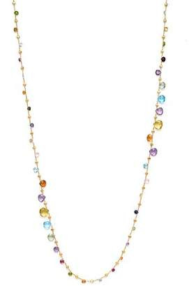 Marco Bicego 18K Yellow Gold Paradise Graduated Mixed Stone Necklace, 47.25""