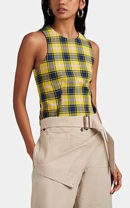 Derek Lam Women's Plaid Cotton-Wool Top - Yellow
