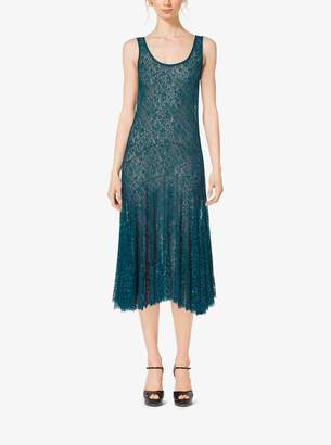 Michael Kors Embroidered Chantilly Lace Tank Dress
