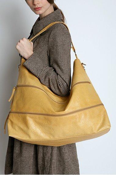 Zipper Oversized Hobo Bag