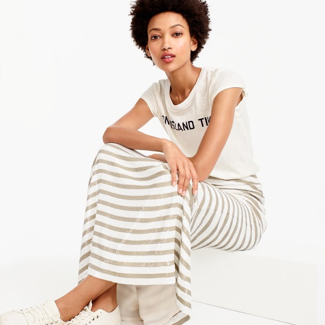 J.Crew Collection stripe sequin maxi skirt