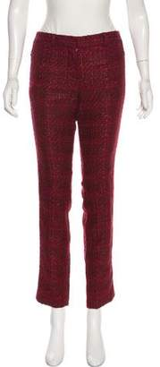 Tory Burch Tweed Mid-Rise Pants