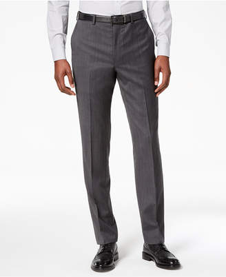DKNY Men Modern-Fit Stretch Textured Suit Pants