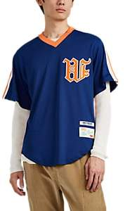 Wu Wear Men's Logo Baseball Jersey - Blue