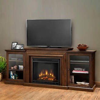 Frederick Real Flame 72 TV Stand with Fireplace