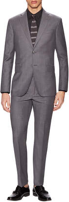 Michael Bastian Gray Label Wool Sharkskin Notch Lapel Suit
