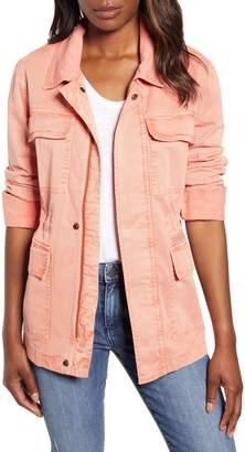 Caslon Metallic Stitch Utility Jacket