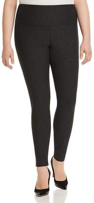 Lysse Plus Rib-Knit Ponte Leggings