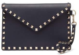Valentino Rockstud leather envelope clutch