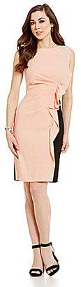Antonio Melani Siobhan Sleeveless Pleated Crepe Sheath Dress $159 thestylecure.com
