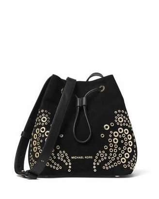 MICHAEL Michael Kors Cary Small Grommet Suede Bucket Bag