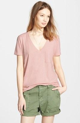 Women's Madewell 'Whisper' Cotton V-Neck Pocket Tee $19.50 thestylecure.com