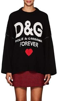 "Dolce & Gabbana Women's ""Forever"" Cashmere Oversized Sweater"