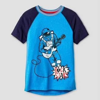Cat & Jack Boys' Rock Star Graphic Short Sleeve T-Shirt Blue