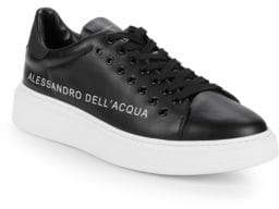 Alessandro Dell'Acqua Lace-Up Leather Low-Top Sneakers
