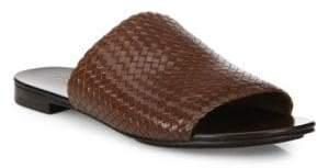 Michael Kors Byrne Woven Leather Slides
