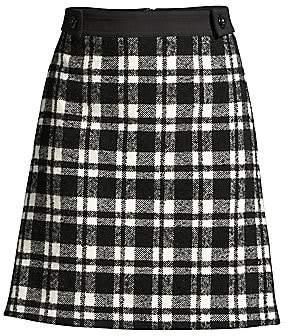 Escada Sport Women's Rafina Wool-Blend Plaid A-Line Skirt
