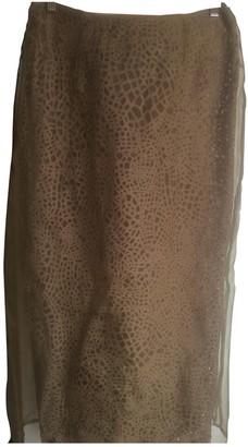 Gianfranco Ferre Green Silk Skirt for Women