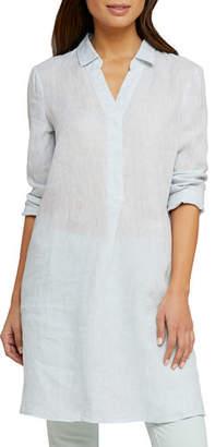 Nic+Zoe Spring Time Long-Sleeve Linen Tunic Dress