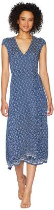 Lucky Brand Border Print Maxi Dress Women's Dress