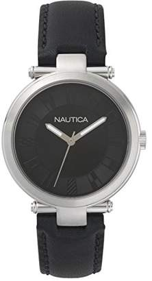 Nautica Men's 'Flagstaff' Quartz Stainless Steel and Leather Sport Watch