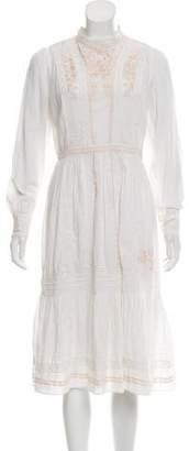 Needle & Thread Embroidered Midi Dress