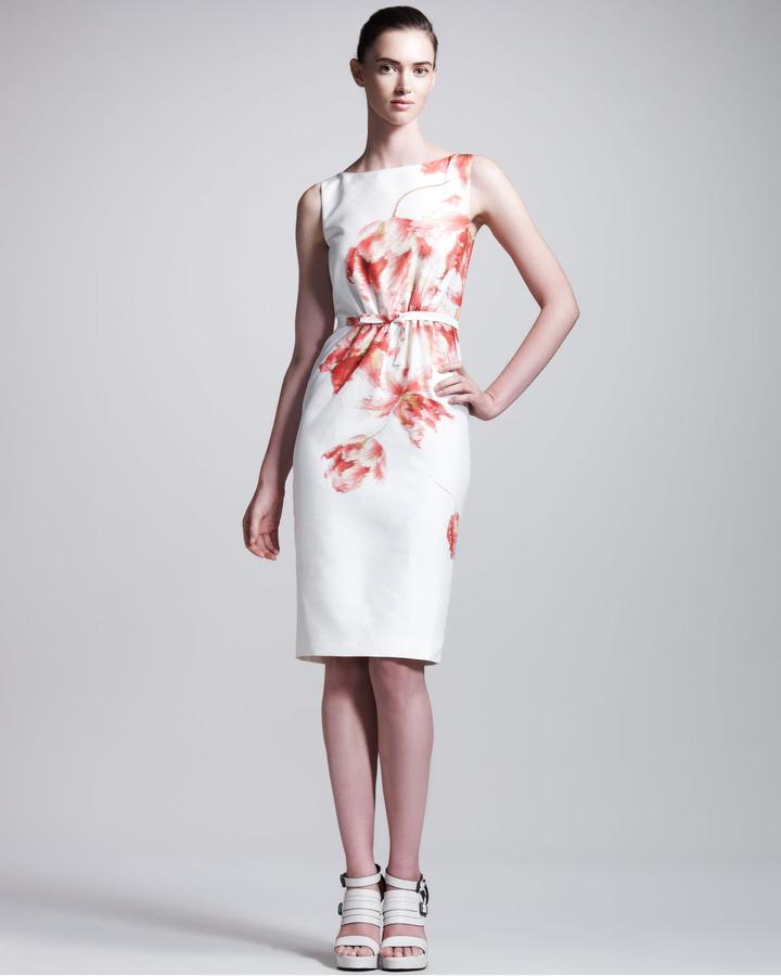 Giambattista Valli Floral-Print Sheath Dress