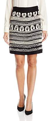 Desigual Women's Clara Knitted Knee Skirt, Black XXL