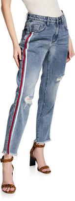One Teaspoon Awesome High-Waisted Striped Jeans