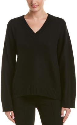 Prada V-Neck Wool & Cashmere-Blend Pullover