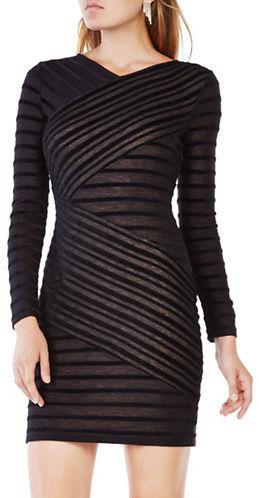 BCBGMAXAZRIABcbgmaxazria Jerri Striped Fitted Dress